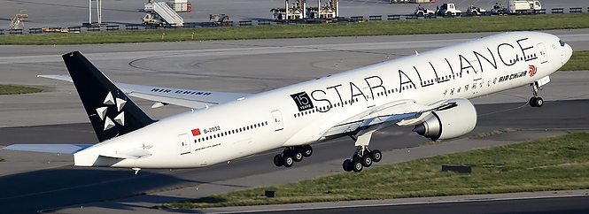 Air China Plane Star Alliance Livery