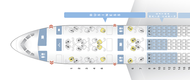 American Boeing 787 Seatmap