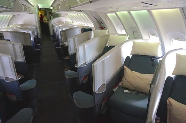 Cathay Pacific Boeing 747 Upper Deck Business Class