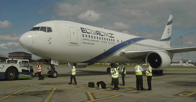 ElAl Plane on the Ground