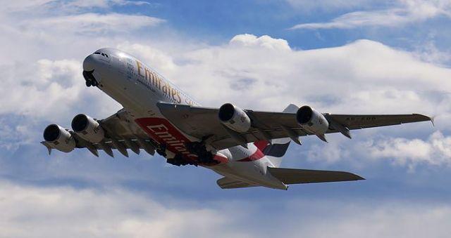 Emirates Airbus A380 Take-Off