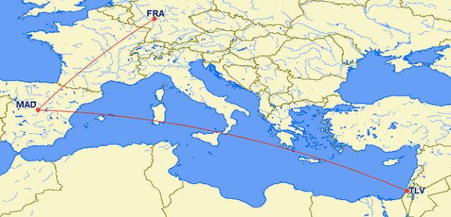 GCM TLV-MAD-FRA Route