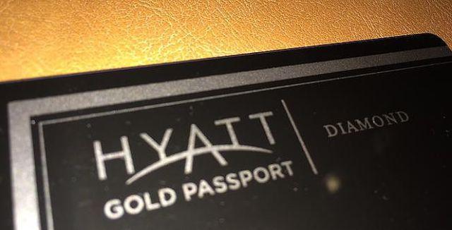 Hyatt Gold Passport Diamond Status Card