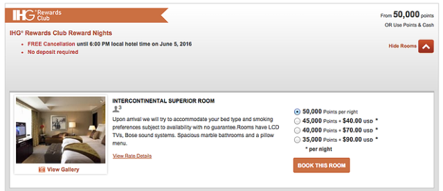 IHG New Cash&Points Rate at a Category 9 Hotel