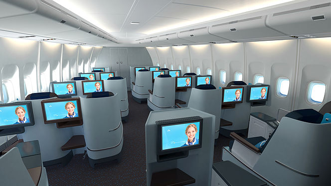 KLM Boeing 747 Business Class