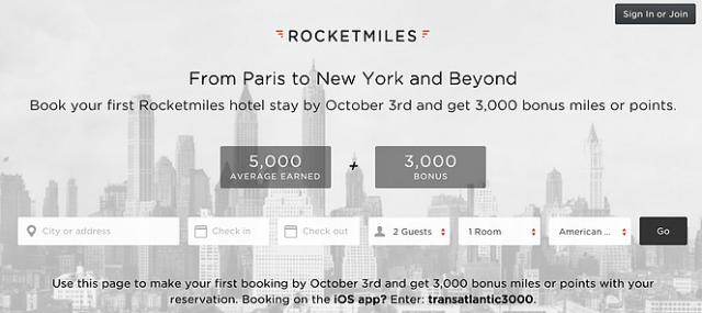 Rocketmiles Earn Miles