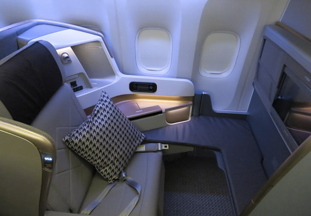 Singapore Airlines New Business Class Seat