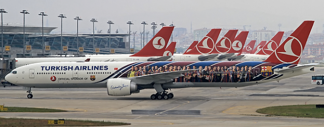 Turkish Airlines Planes Parking