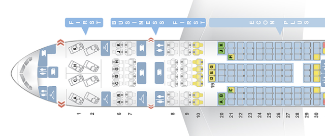 United Boeing 777 Seatmap