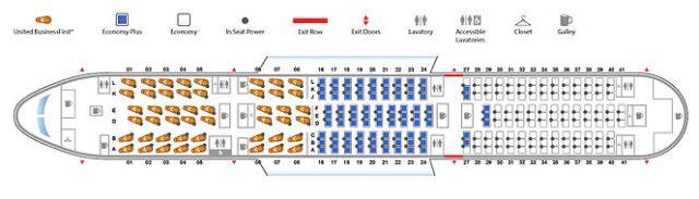 United Boeing 787 Dreamliner Seatmap