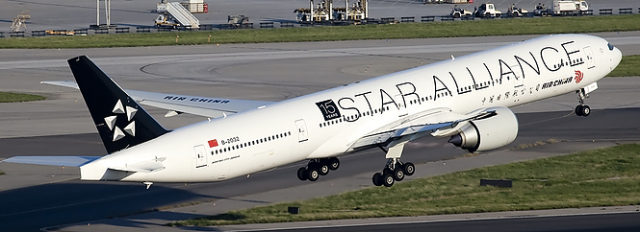 Air China Plane with Star Livery