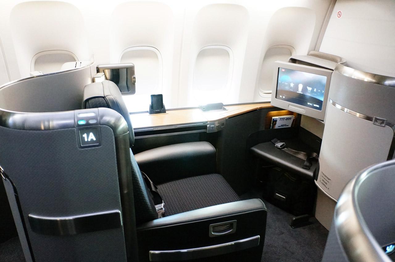 American 77W First Class Seat 1A