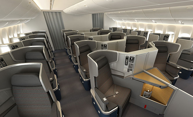 American Business Class Boeing 77W