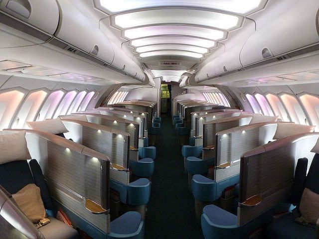 Cathay Pacific Boeing 747 Upper Dech Business Class