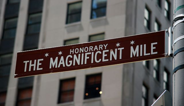 Chicago Magnificent Mile Sign