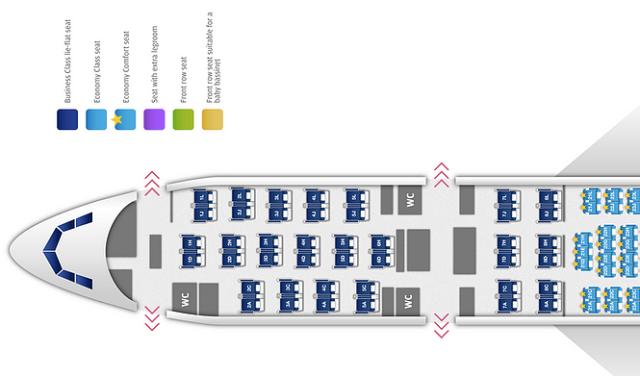 Finnair A330 Seatmap