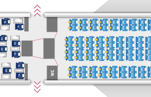 Finnair Economy-Comfort Seatmap