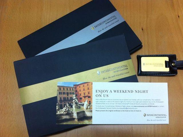 InterContinental Gold and Platinum Ambassador Kits