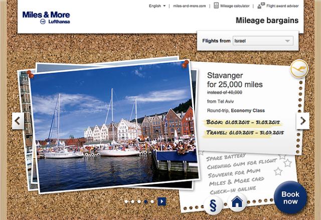 Miles&More Mileage Bargains