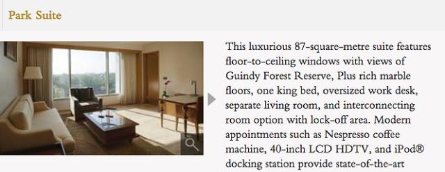 Park Hyatt Chennai - Park Suite Description