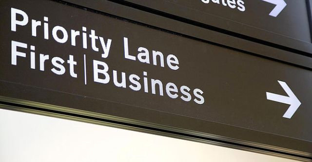 Priority Lane Sign