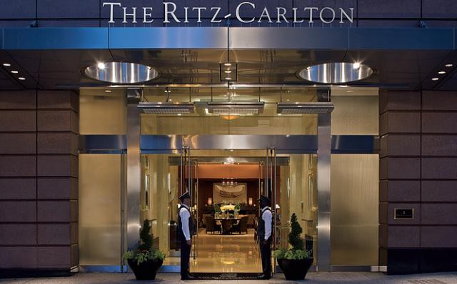 Ritz Carlton Hotel Entrance