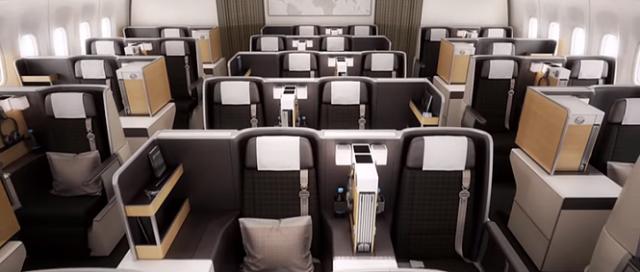 Swiss Boeing 777-300ER Business Class Cabin
