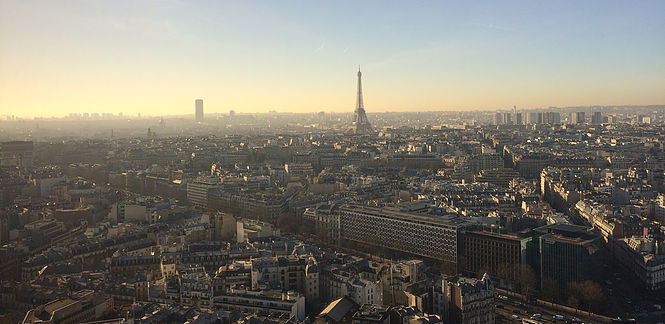 View of Paris from Hyatt Regency Etoile