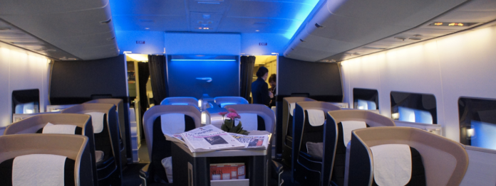British Airways 747 First Class Cabin 1