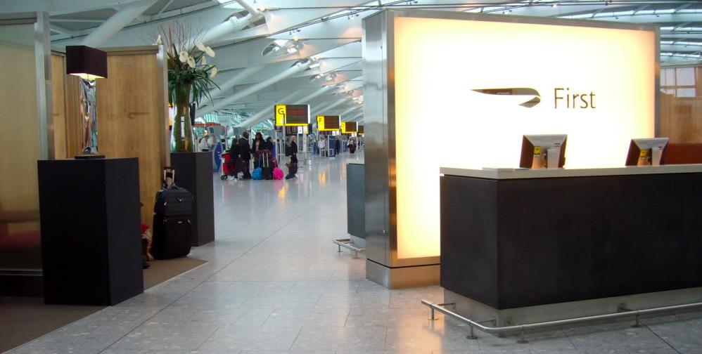 British Airways First Class Check-In