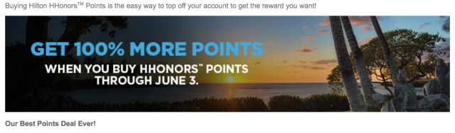 HHonors Buy Points - 100% Bonus