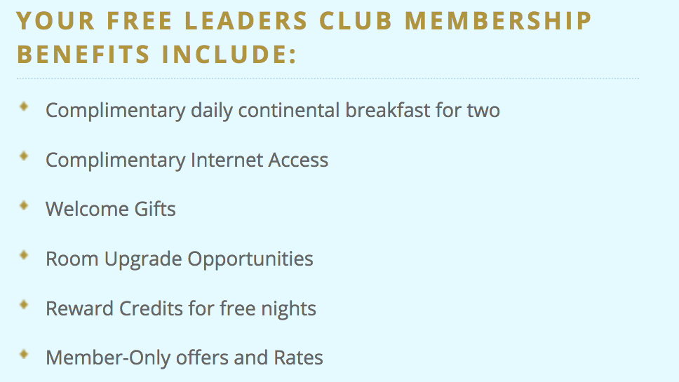 Leaders Club - Membership Benefits