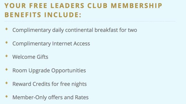 Leaders Club - Membership Benefits