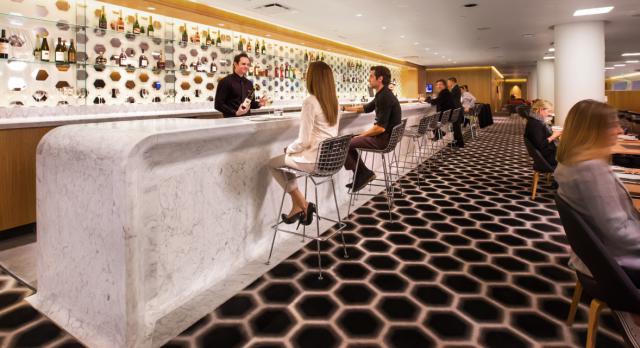 Qantas LAX First Class Lounge Bar