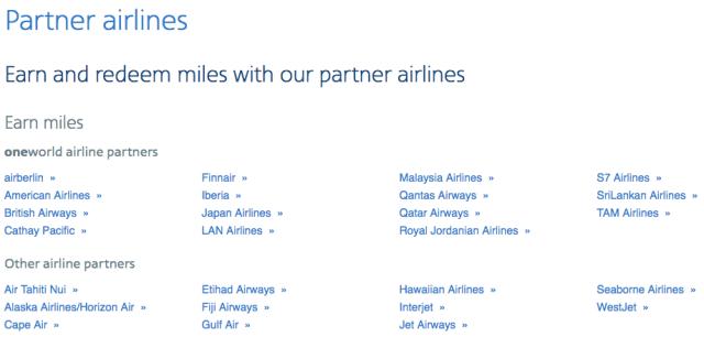 AAdvantage Partners List
