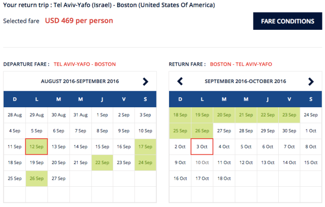 Air France 469$ Fare to Boston Sep-Oct