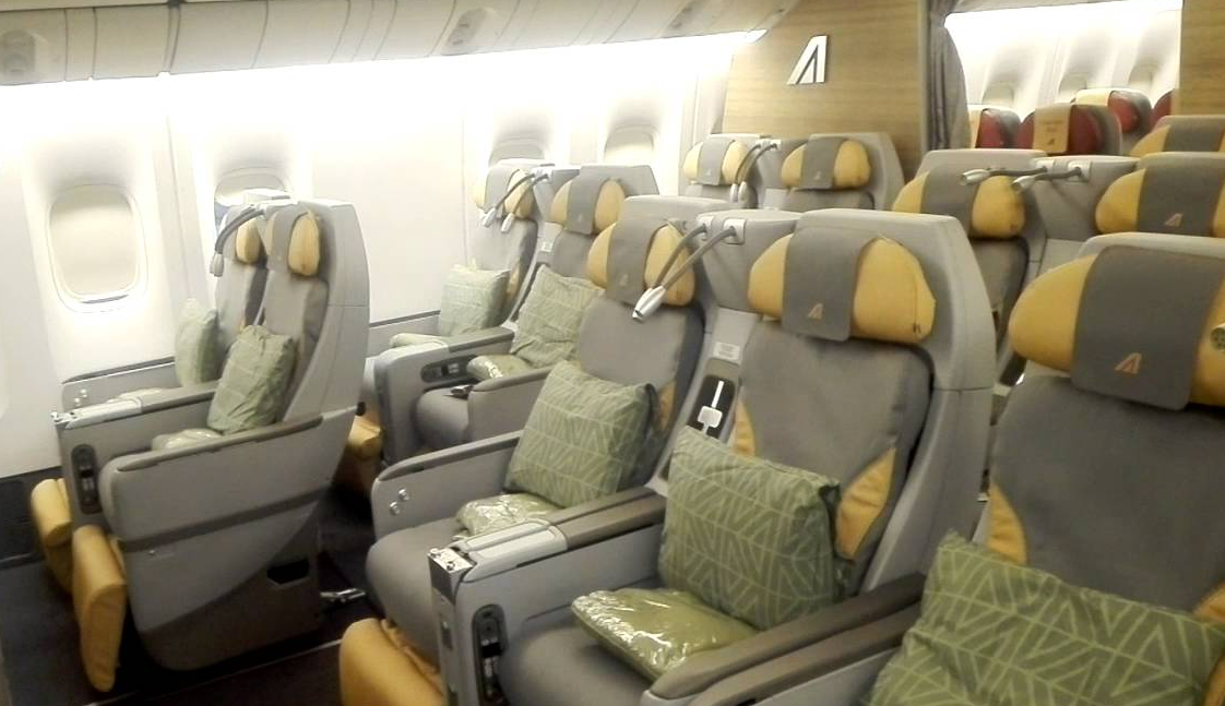 Alitalia Premium Economy Cabin