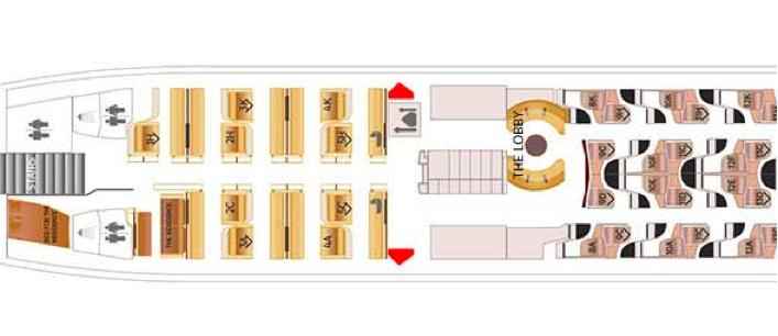 Etihad First Class Seatmap