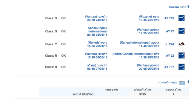 Finnair Ticket Route and Price