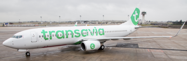 Transavia Plane on the Ground