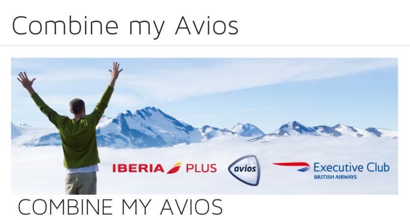 Transfer Avios from IberisPlus to Executive Club