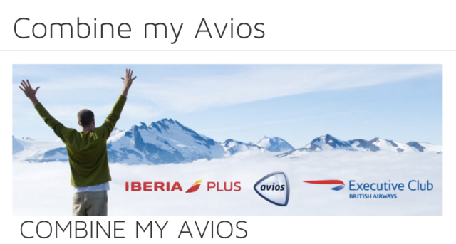 Transfer Avios from IberisPlus to Executive Club