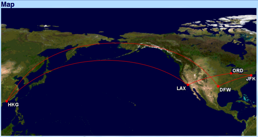 GCM Route - US to HK