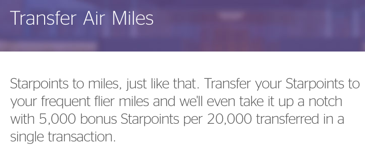 Transfer SPG Points to Miles