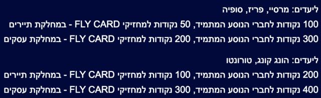 ElAl July Promotion Award Tickts Prices