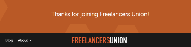 Freelancers Union - Signup Confirmation