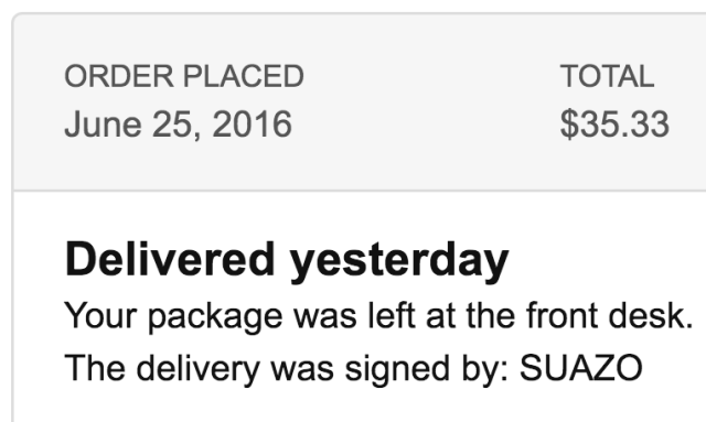 Package Delivery Confirmation - Amazon