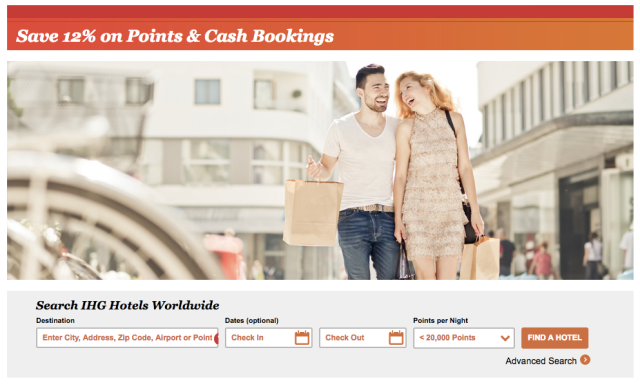 Book IHG and Save on Cash+Points