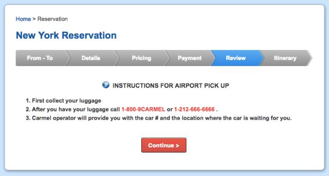Carmel Pick-Up Instructions