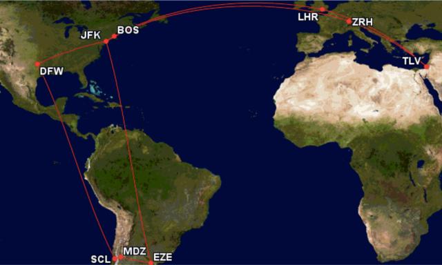 GCM Route - All Flights